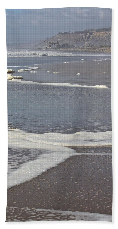 Beach Beach Towel featuring the photograph The Beach In January by Diana Hatcher