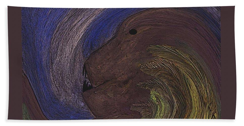 Animal Beach Towel featuring the digital art The Beast by Melvin Moon