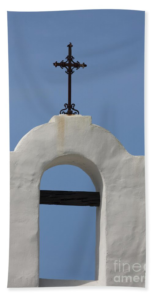 Cross Beach Towel featuring the photograph The Bellfry Arch by Kim Henderson