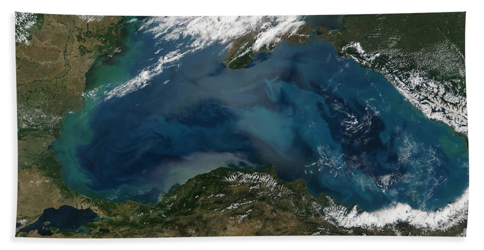 Color Image Beach Towel featuring the photograph The Black Sea In Eastern Russia by Stocktrek Images