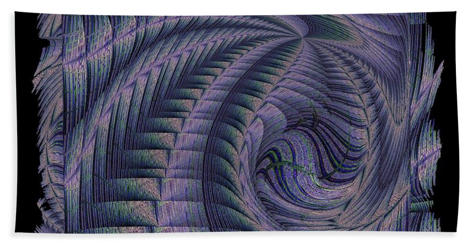 Abstract Beach Towel featuring the digital art The Blue Highway by Tim Allen