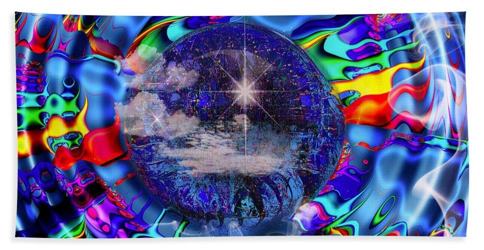 Blue Beach Towel featuring the digital art The Break Of Dawn by Robert Orinski