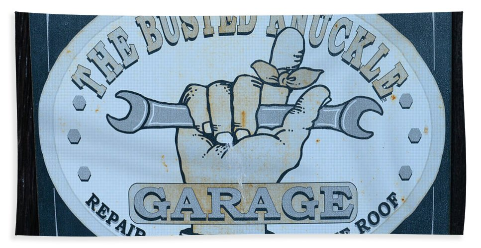 The Busted Knuckle Beach Towel featuring the photograph The Busted Knuckle by Paul Ward