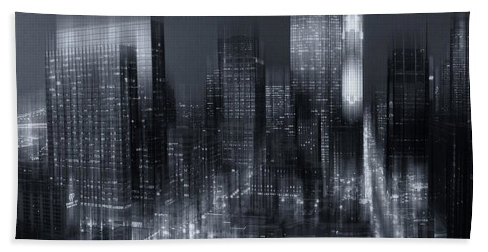Minneapolis Beach Towel featuring the photograph The City Comes Alive At Night by Angela King-Jones