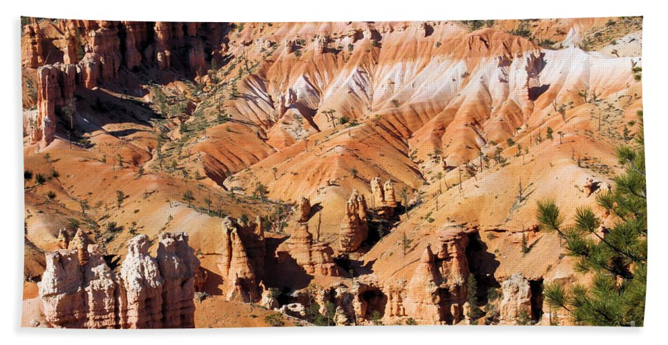 Hoodoos Beach Towel featuring the photograph The Concert Arena by Adam Jewell