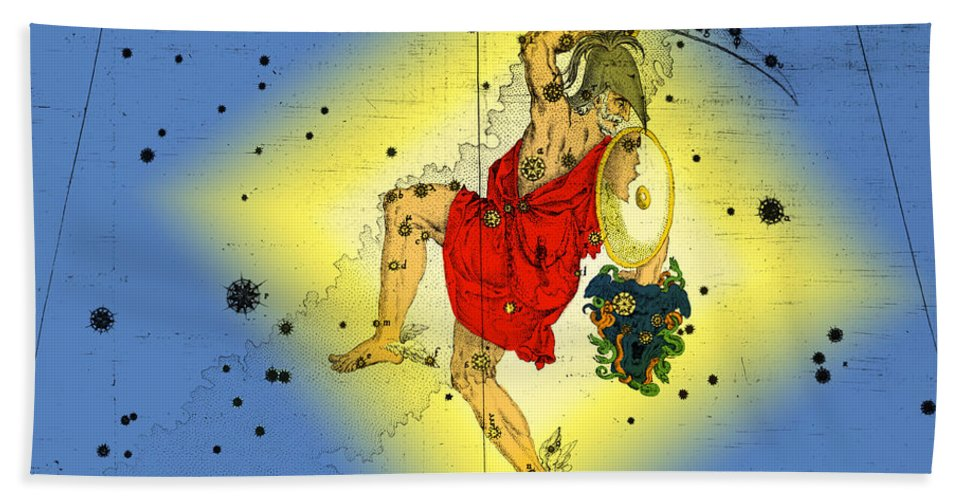 Perseus Beach Towel featuring the photograph The Constellation Perseus by Omikron