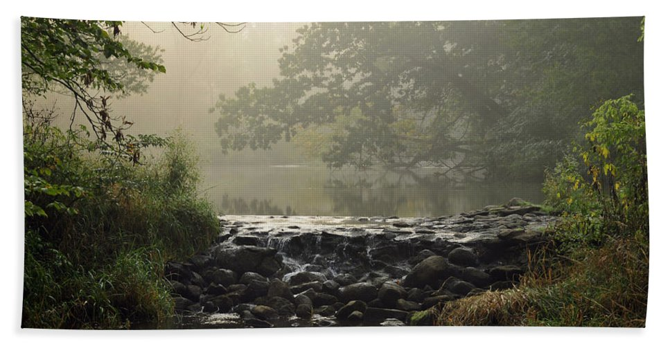 Waterfall Beach Towel featuring the photograph The Crossing by David Arment