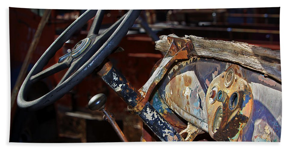 Dashboard Beach Towel featuring the photograph The Dashboard by Phyllis Denton