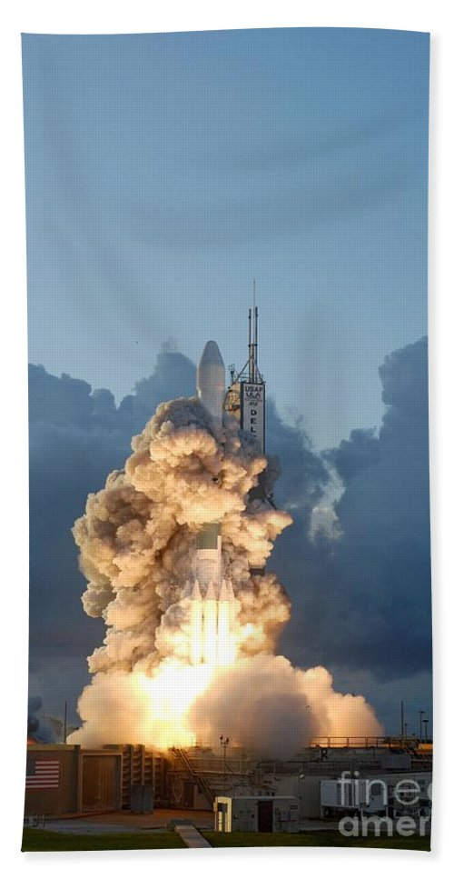 Science Beach Towel featuring the photograph The Dawn Spacecraft by NASA/Science Source
