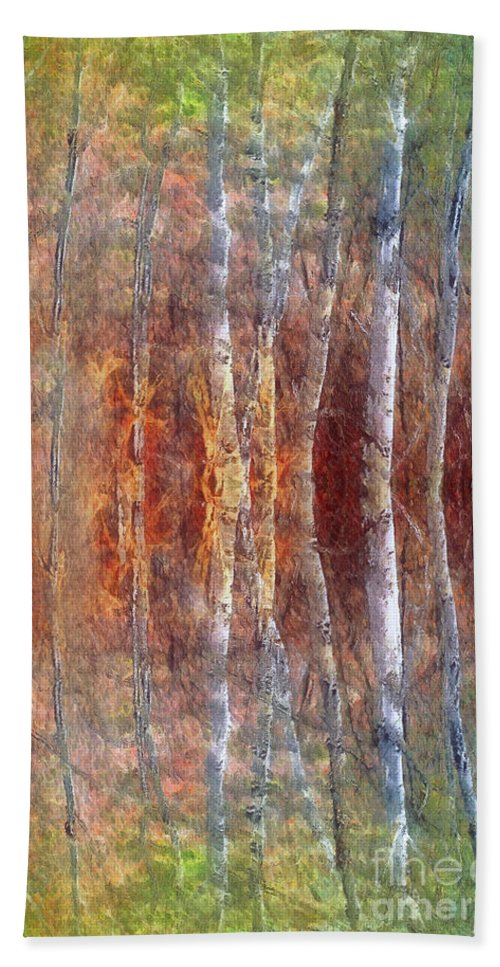 Trees Beach Towel featuring the photograph The Dream Forest by Tara Turner