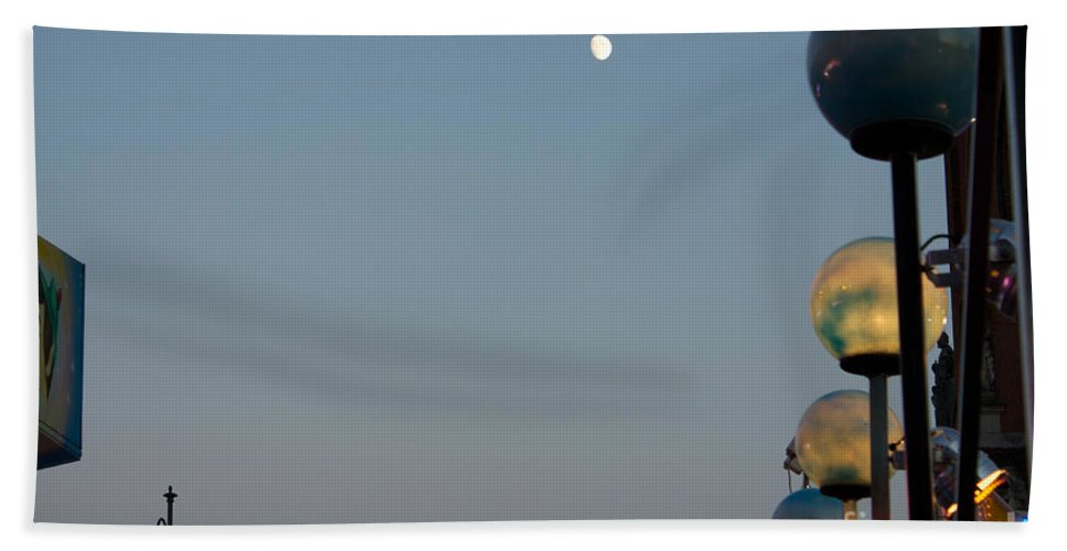 Peter Pan Beach Towel featuring the photograph The Fifth Moon by Donato Iannuzzi
