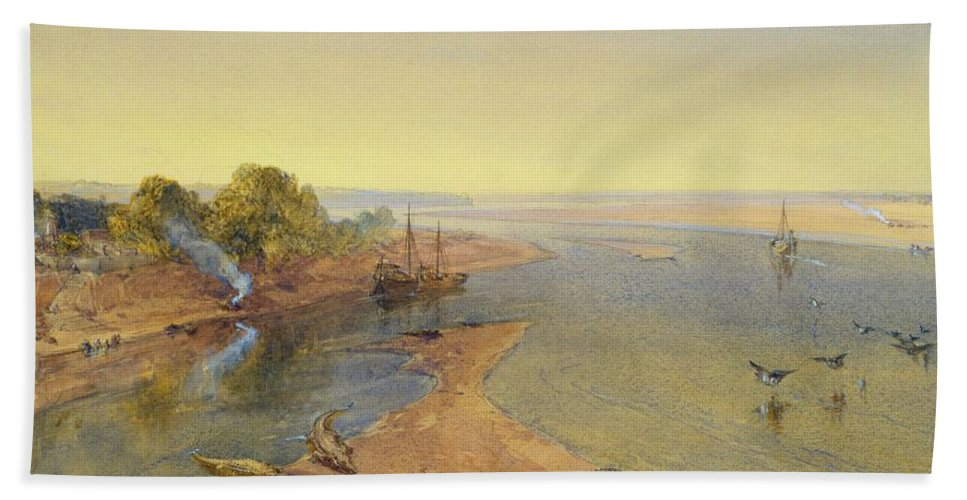 Xyc281119 Beach Towel featuring the photograph The Ganges by William Crimea Simpson