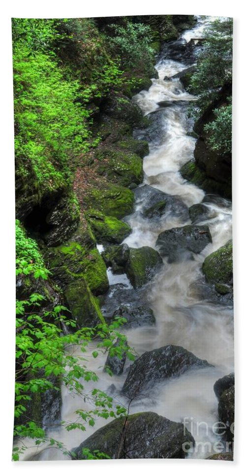 Waterfalls Beach Towel featuring the photograph The Gorge by Paul Ward