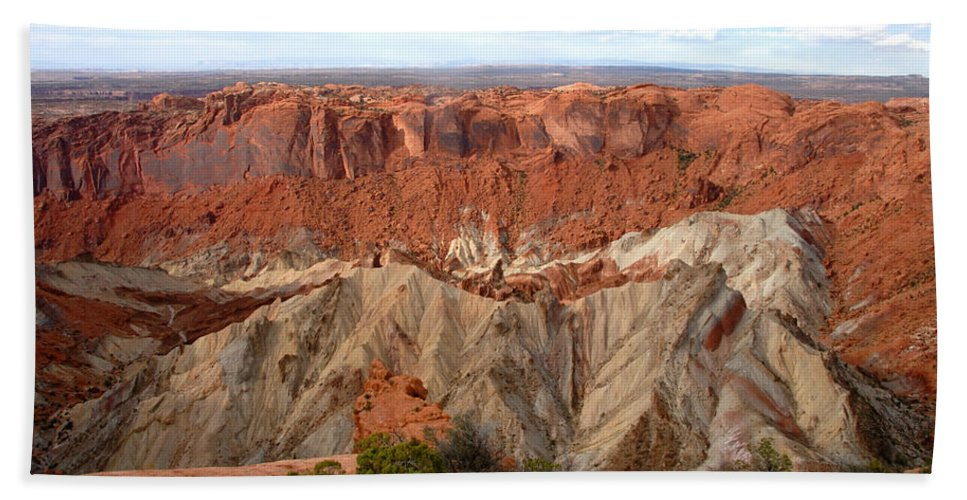 Fine Art Photography Beach Towel featuring the photograph The Great Upheaval Dome by David Lee Thompson