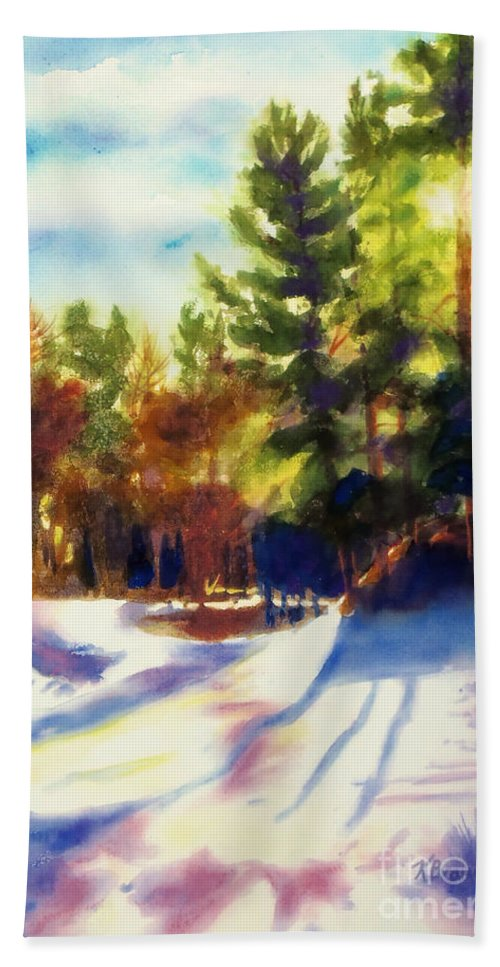 Paintings Beach Towel featuring the painting The Last Traces II by Kathy Braud