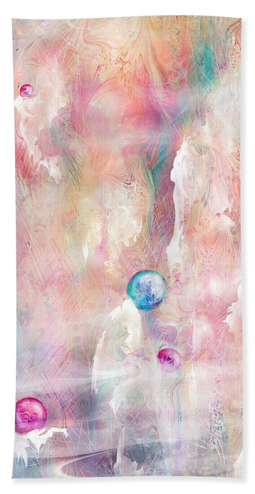 Landscape Beach Towel featuring the painting The Lost Marbles by William Russell Nowicki