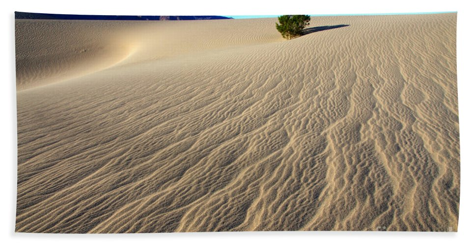 Death Valley Beach Towel featuring the photograph The Magic Of Sand by Bob Christopher