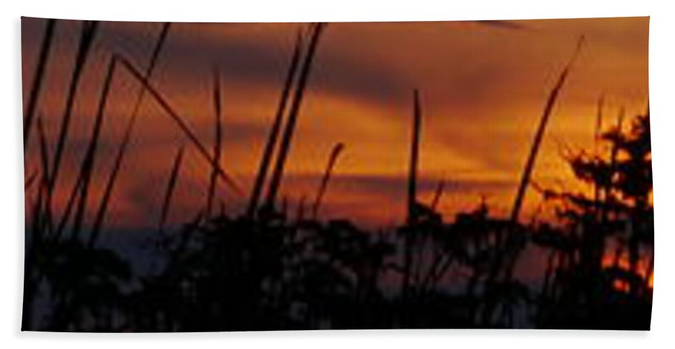 Silhouette Beach Towel featuring the photograph The Marsh At Sunset by Anthony Walker Sr