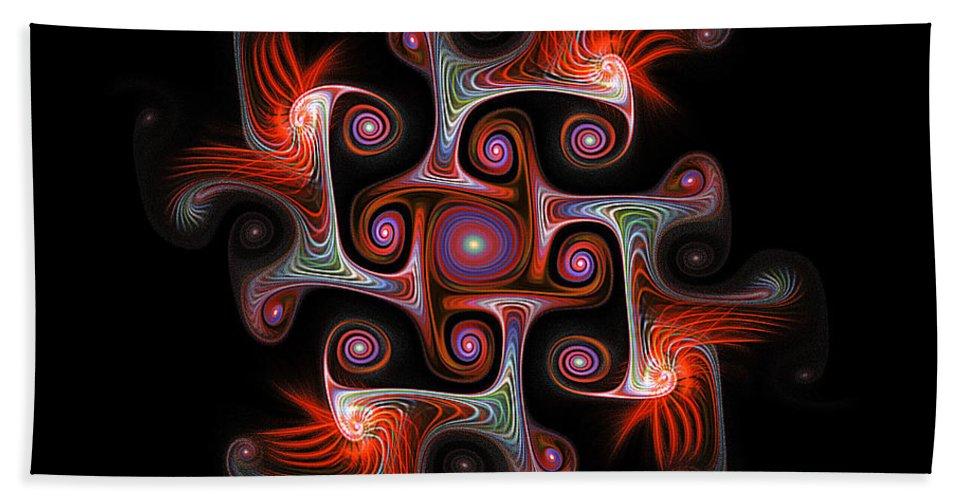 Digital Art Beach Towel featuring the digital art The Maze by Amanda Moore