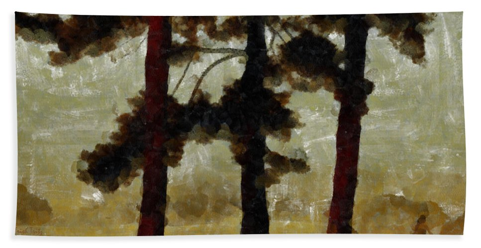 Tree Beach Towel featuring the photograph The Morning Stroll by Trish Tritz
