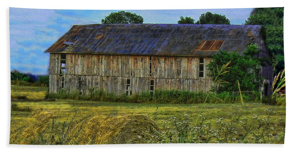 Barn Beach Towel featuring the photograph The Old Barn by Ericamaxine Price