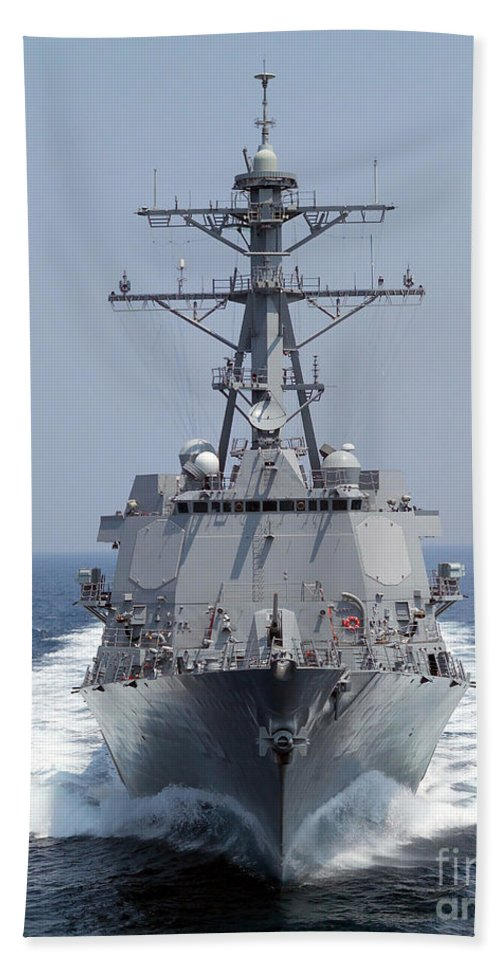 Color Image Beach Towel featuring the photograph The Pre-commissioning Unit Guided by Stocktrek Images