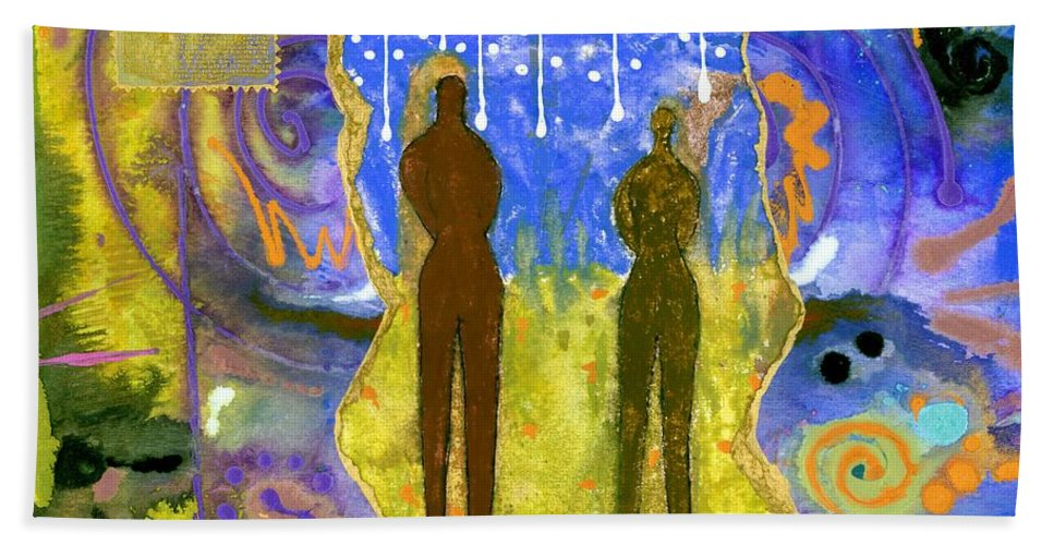Greeting Cards Beach Towel featuring the mixed media The Promise Keepers by Angela L Walker