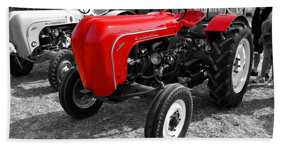 Tractor Beach Towel featuring the photograph The Red Porsche by Rob Hawkins