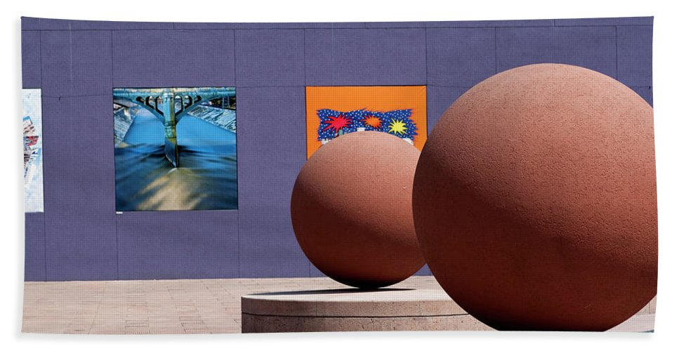 Pershing Square Beach Towel featuring the photograph The Rounds Of Pershing Square by Lorraine Devon Wilke
