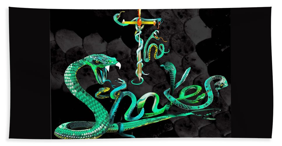 Fantasy Beach Towel featuring the painting The Snakes Live In Europe by Penny Golledge