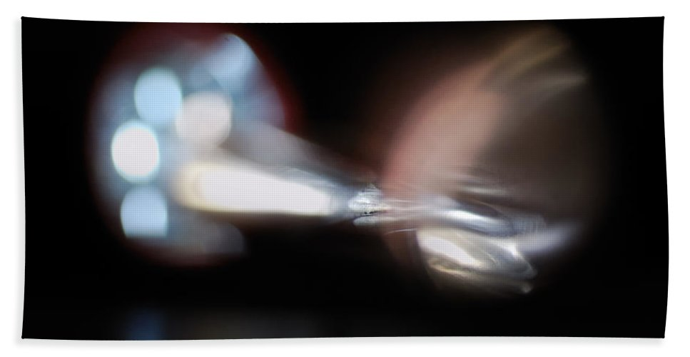 Abstract Beach Towel featuring the photograph The Speed Of Light by Susan Capuano
