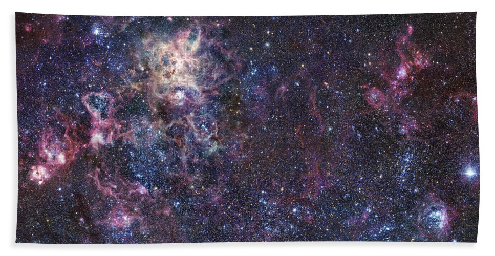 30 Doradus Beach Towel featuring the photograph The Tarantula Nebula by Robert Gendler