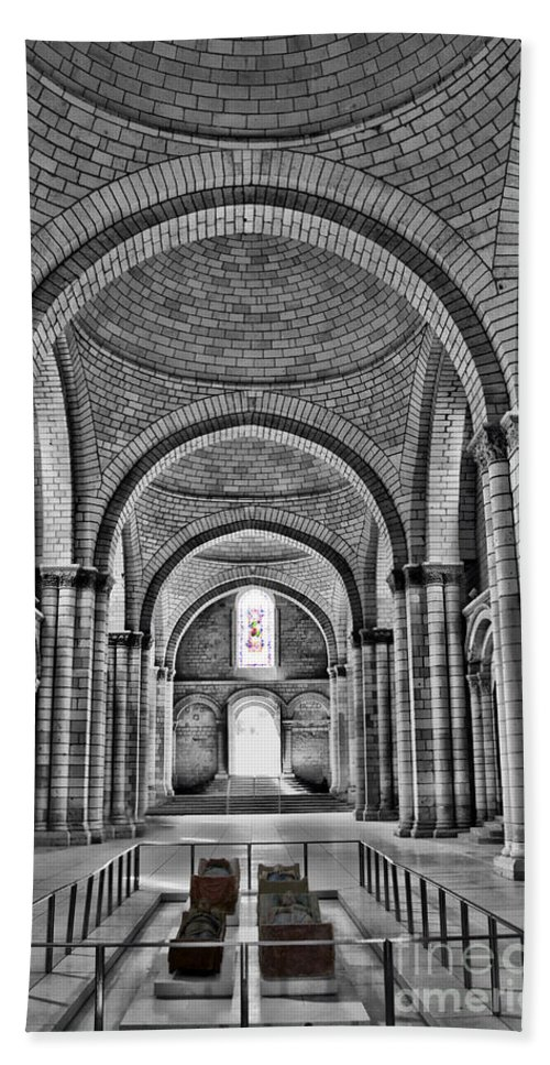 Fontevraud Abbey Beach Towel featuring the photograph The Tombs At Fontevraud Abbey  France by Sheila Laurens
