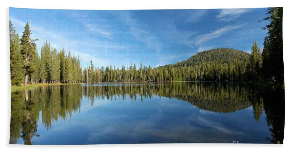 Summit Lake Beach Towel featuring the photograph The Tree Line by Adam Jewell
