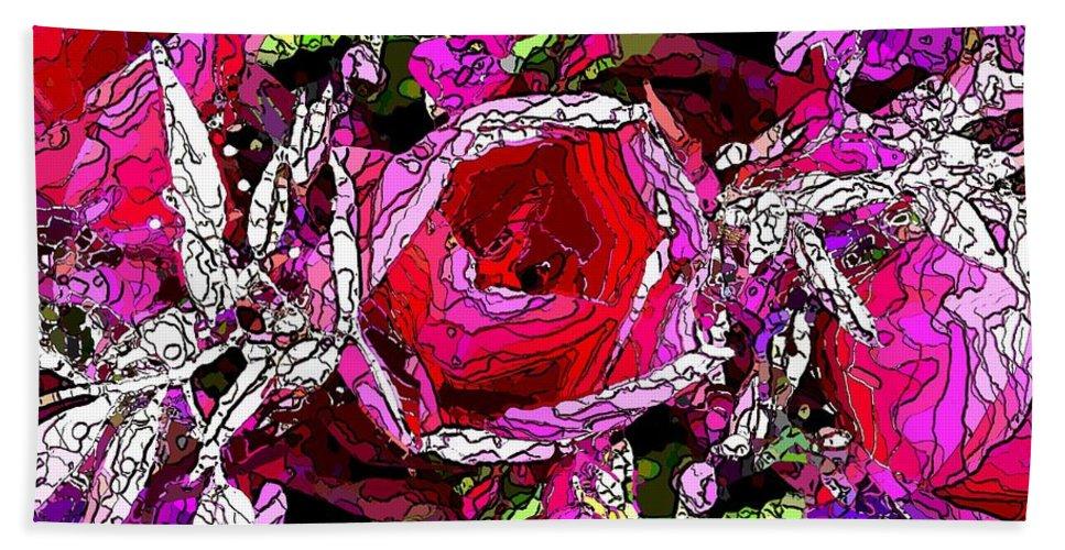 Tulip Beach Towel featuring the digital art The Tulip by Tim Allen