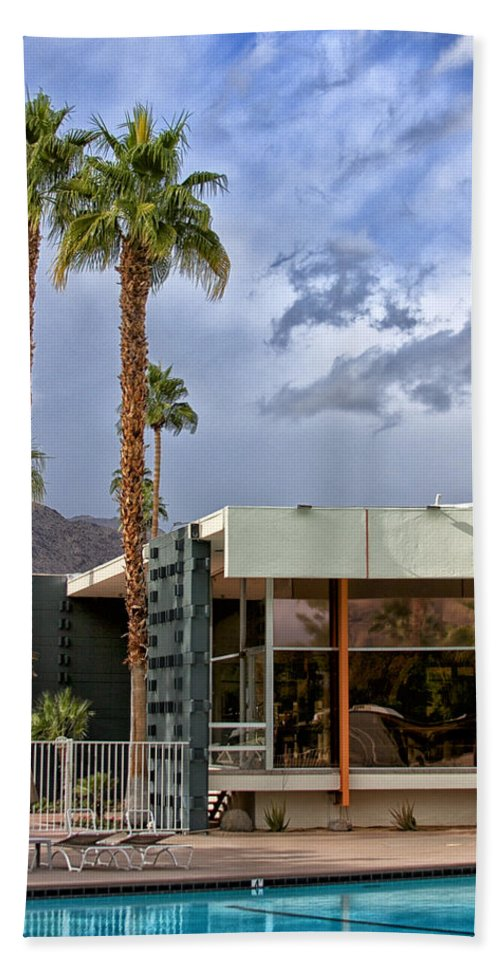 V Beach Towel featuring the photograph The View Palm Springs by William Dey