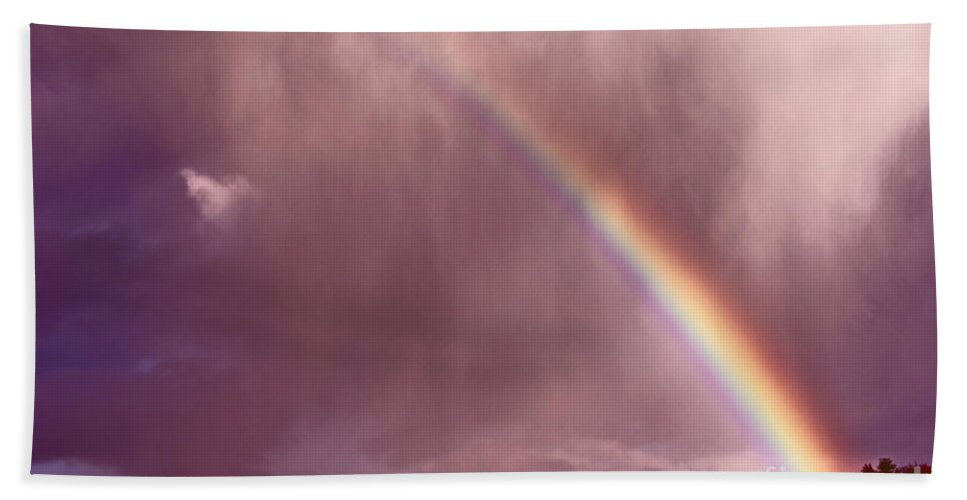 Rainbow Beach Towel featuring the photograph There Is Always Hope by Aimelle