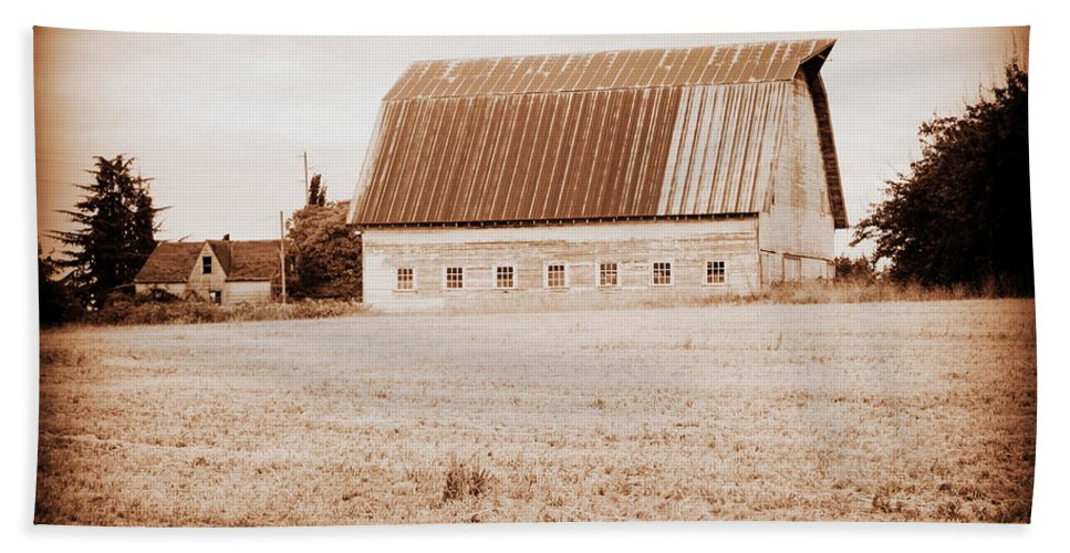 Barn Beach Towel featuring the photograph This Old Farm II by Kathy Sampson