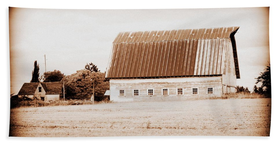 Barn Beach Towel featuring the photograph This Old Farm IIi by Kathy Sampson