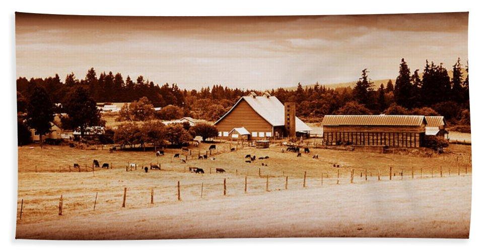 Barn Beach Towel featuring the photograph This Old Farm IIII by Kathy Sampson