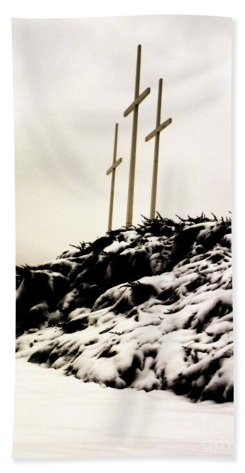 Cross Beach Towel featuring the photograph Three Crosses by Charleen Treasures