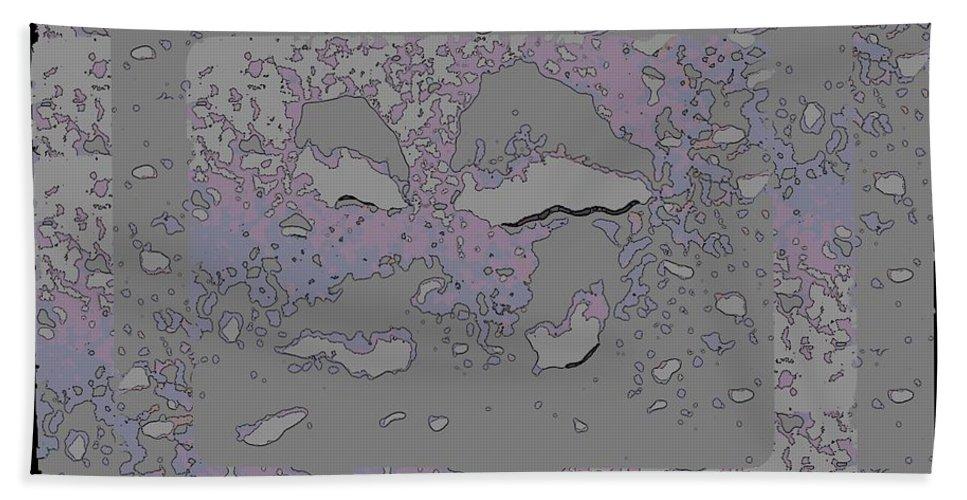 Abstract Beach Towel featuring the digital art Through The Fog 2 by Tim Allen