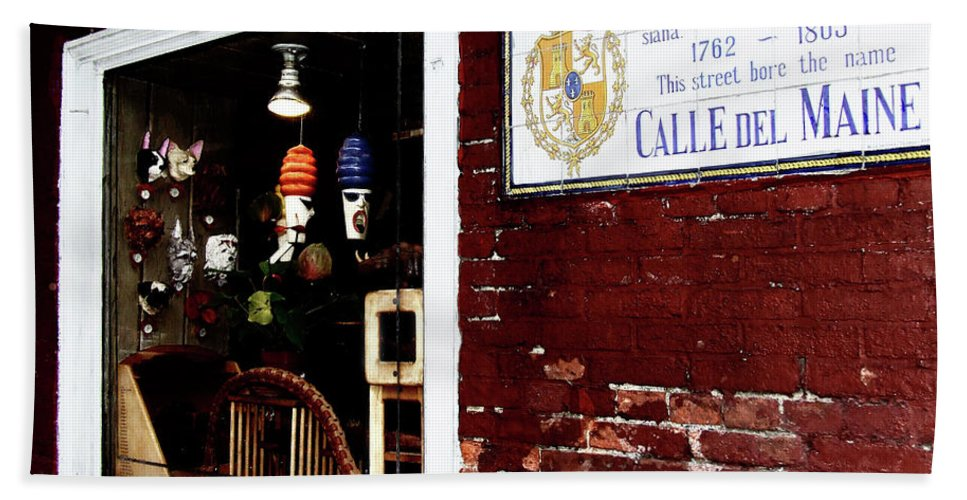 Calle Del Maine Beach Towel featuring the photograph The Window On Calle Del Maine by Frances Hattier
