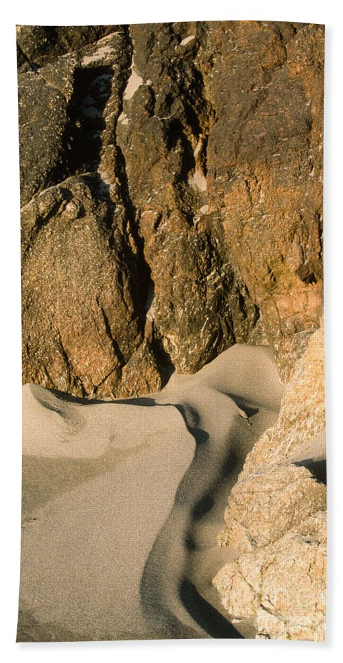 Waterscape Beach Towel featuring the photograph Tide Sculpture by Sandra Bronstein