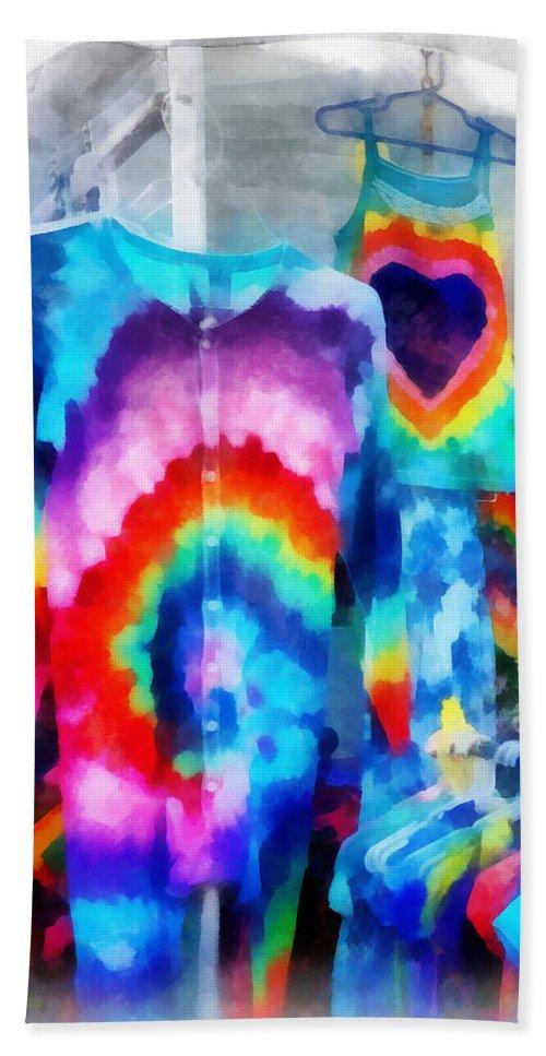 Fashion Beach Towel featuring the photograph Tie Dye Shirts by Susan Savad
