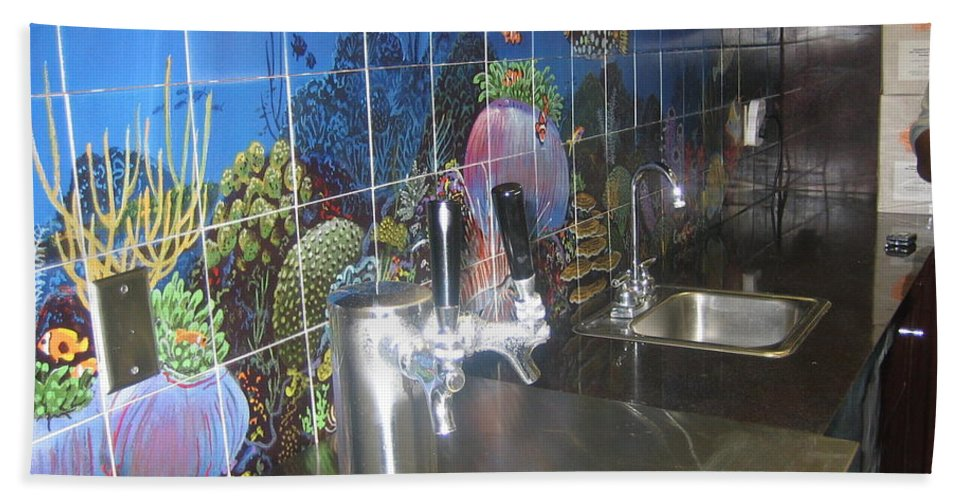 Tiles Beach Towel featuring the digital art Tiles For Homes Or Commercial by Carey Chen