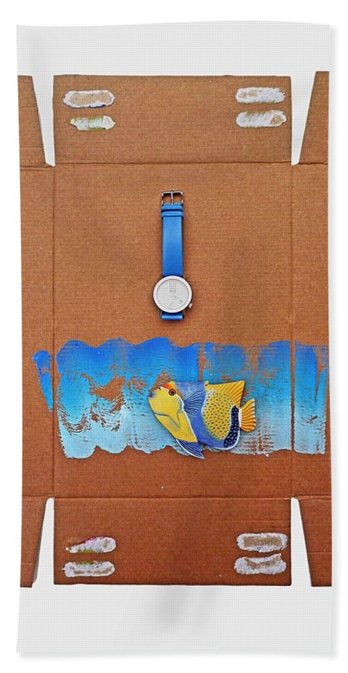Watch Beach Towel featuring the painting Time Piece by Charles Stuart