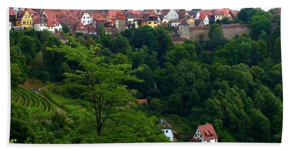 Rothenburg Beach Towel featuring the photograph Timeless Rothenburg by Carol Groenen