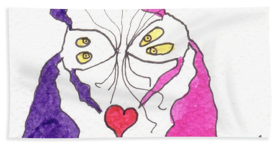 Valentine Beach Towel featuring the painting Tis My Valentine by Tis Art