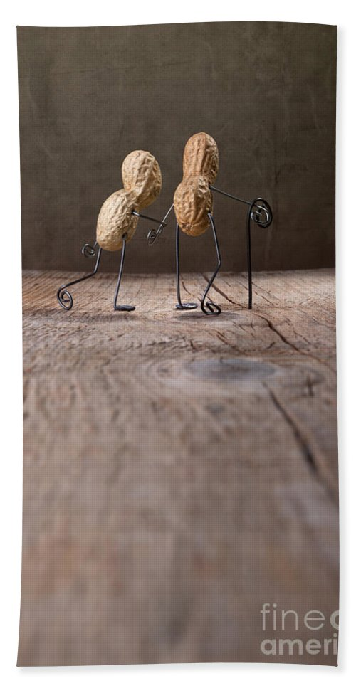 Peanut Beach Sheet featuring the photograph Together 03 by Nailia Schwarz